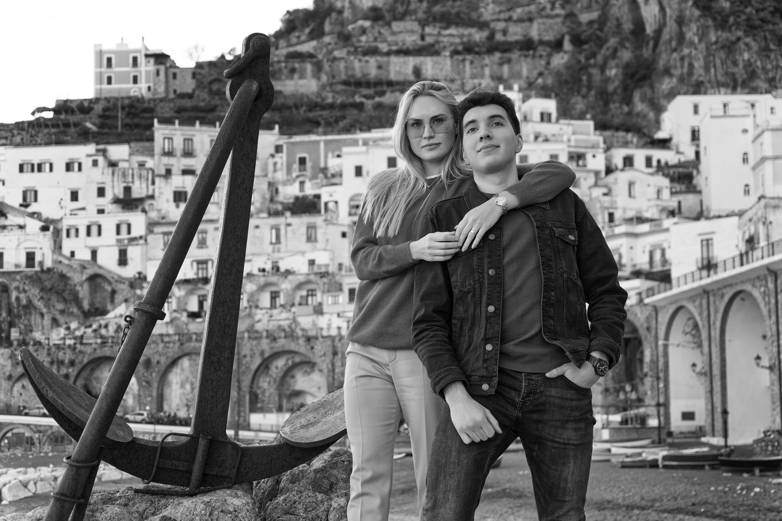 Черно-белая фотосессия в Амальфи